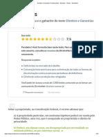 Direitos e Garantias Fundamentais - Gabarito - Testes - DireitoNet