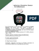 Teleseries. Generos y Formatosdocx