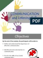Communication & Listening Skills