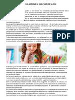 EVALUACIÓN DE EXÁMENES. GEOGRAFÍA DE SECUNDARIA
