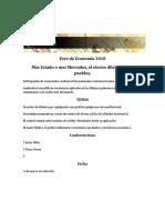 Modelo de  Invitación - Foro de Economia 2018