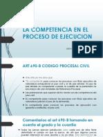 Clase 03 - LA COMPETENCIA EN EL PROCESO DE EJECUCION.pptx