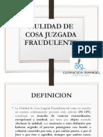 CLASE 9 - NULIDAD DE COSA JUZGADA FRAUDULENTA.pptx