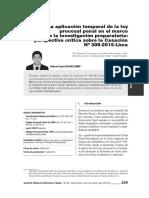 La Aplicación Temporal de La Ley Procesal Penal en El Marco de La Investigación Preparatoria
