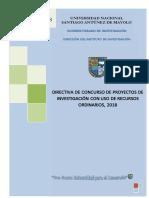 Directiva Concurso Proyectos Investigacion Ro 2018 (1)