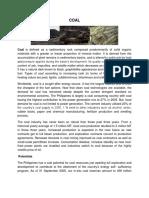 Written Report on Coal