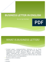 Business Letter in English