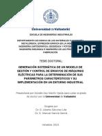 Generación Sistemática de Un Modelo de Gestión y Control de Ensayos de Máquinas Eléctricas Para La Determinación de Sus Parámetros Característicos y Su Implementación en Un Entorno Industrial