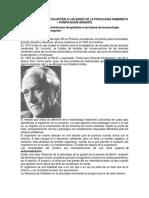 La Contribución de Goldstein a Las Bases de La Psicología Humanista