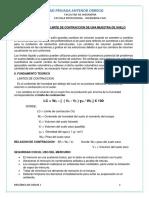 Determinación de Limite de Contracción de una muestra de suelo