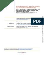 Artigo Grupo 4 - Human Papillomavirus 45 Genetic Variation and Cervical Cancer Risk