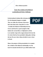 Athanassopoulou-Greek- Israeli Relations Ahepa Paper