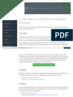 Deeplearning4j Org Glossary