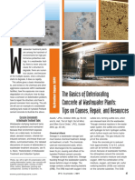 The Basics of Deteriorating Concrete at Wastwater Plants-tips on Causes Repair and Resources