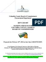 Columbia County Request for Proposal Dated January 25, 2010