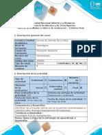 Guía de Actividades y Rubrica de Evaluacion - Informe Final