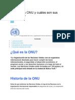Qué Es La ONU y Cuáles Son Sus Funciones