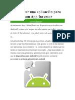 Como Crear Una Aplicación Para Android Con App Inventor