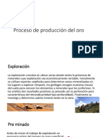 Proceso de Producción Del Oro