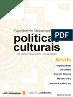 Anais VIII Seminário Internacional Políticas Culturais FCRB Texto LAFR e MSC 2017