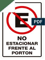Prohibido Estacionarse