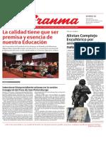 Diario Granma. 25 de mayo de 2018.