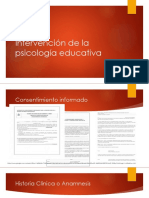 Intervención de La Psicología Educativa (Historia Clinica - Copia