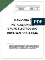 Maniobra e Instalacion g.e.san Borja-lima