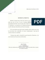 REFERENCIA PERSONAL / BANCARIA