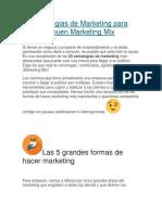 25 Estrategias de Marketing Para Hacer Un Buen Marketing Mix