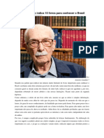 Antonio Candido Indica 10 Livros Para Conhecer o Brasil