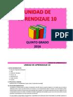 UNIDAD DE APRENDIZAJE 5° - DICIEMBRE