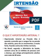 Palestra Sobre Hipertensao 2018