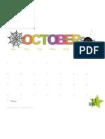 Free October 2010 Calendar