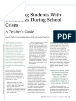Supporting Students with Disabilities During School Crises