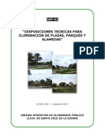 DAP-01- DISPOSICIONES TECNICAS SISTEMA DE ILUMINACION - Plazas, Parques, Alamedas.pdf