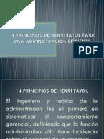 14 Principios de Fayol 09-May-2016
