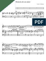 Historia de Un Amor vocal score