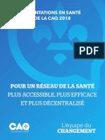 Orientations en santé de la CAQ 2018