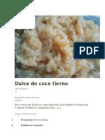 Dulce de Coco Tierno y Arándanos