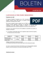 Clasificacion de Las Pymes, Pequeña y Mediana Empresa