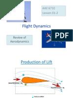 Review of Aerodynamics