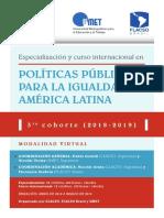 3era Cohorte Curso Especializacion Politicas Publicas Para La Igualdad