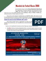 Guia Rusia 2018 Fixture