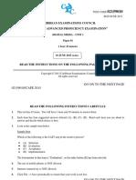 DM Unit 1 Paper 1 MayJune 2015