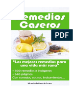 Remedios Caseros - MundoAsistencial