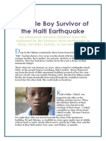 Earthquake Survivor Story