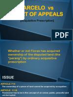 Acquisitive Prescription (Marcelo vs Court of Appeals)