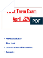 Trial Exam First Term
