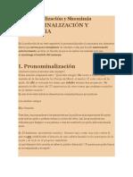 Ejercicios de Pronominalización